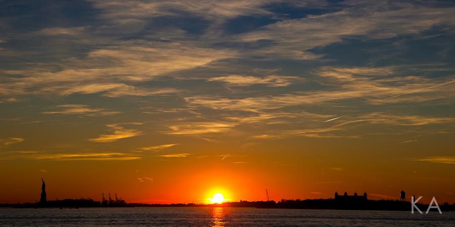 Sunset Sunday at Battery Park - Kirsten Alana