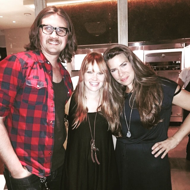 L to R: Drew, Amy and I. A reunion long in the making!! (Thanks to Amy for the photo.)