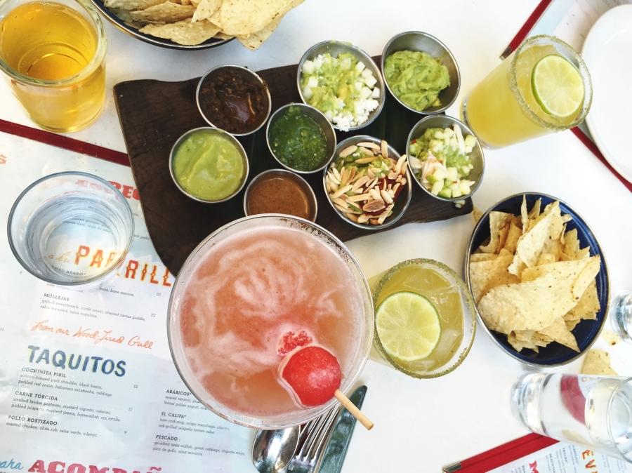 Delicious food and drink at La Condesa.