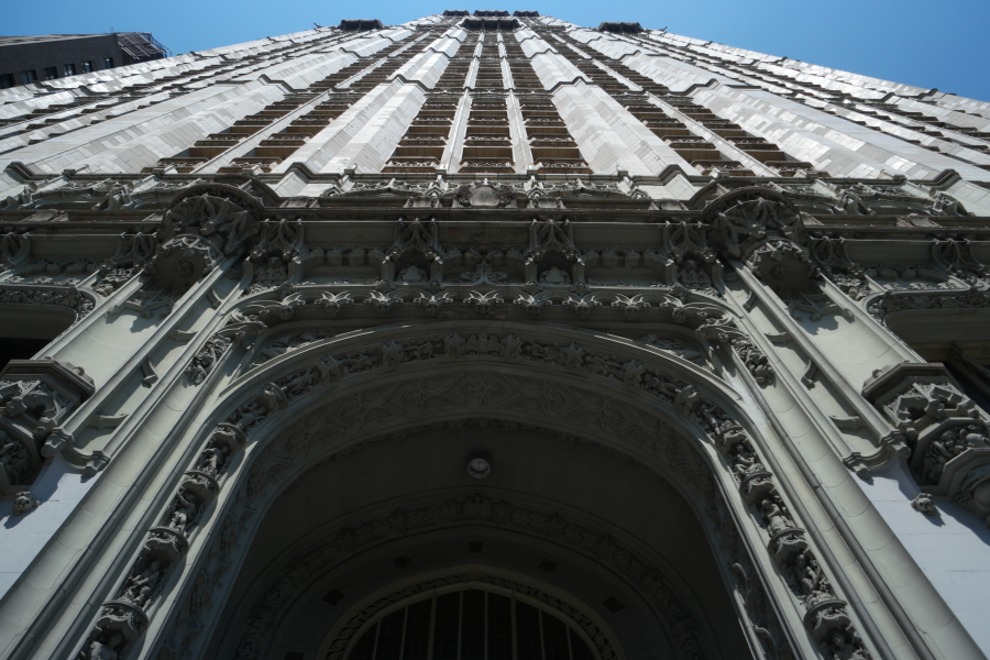 Looking Up Before Entering the Woolworth