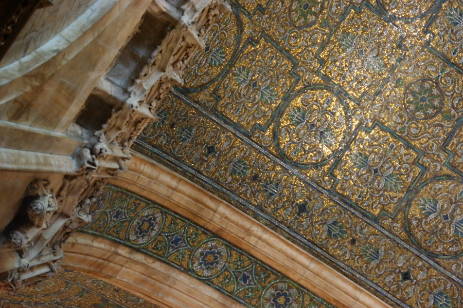 I could not get over the mosaic ceilings!