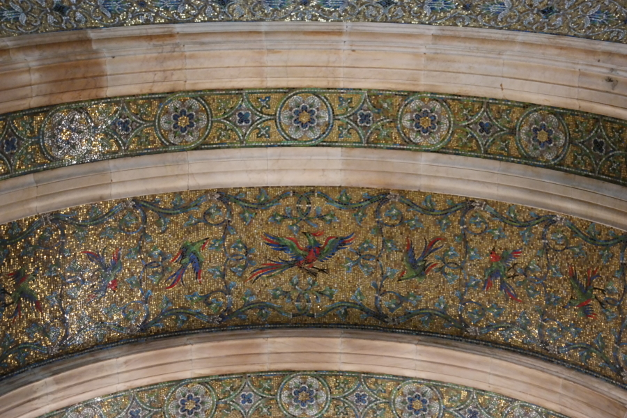 I loved the Bird Motif of the Mosaic Ceilings