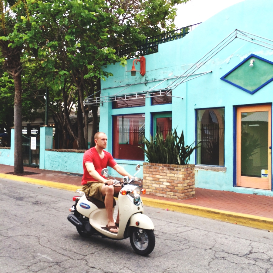 Vespas are a common site in Key West