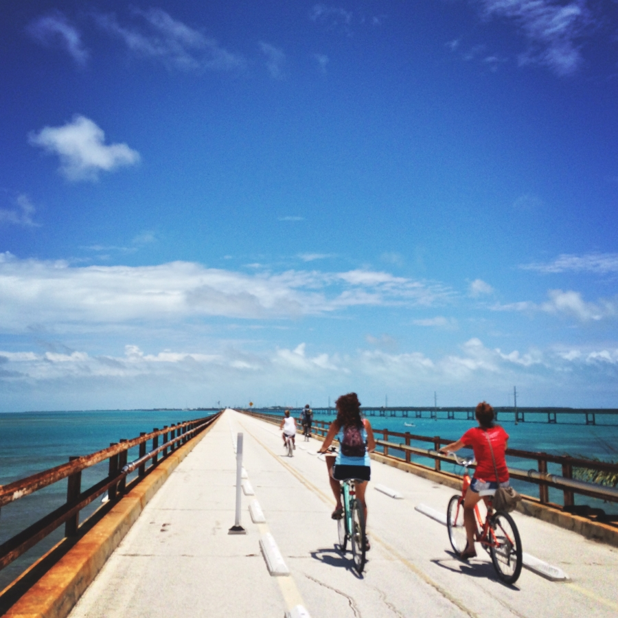 Biking Old Seven Mile Bridge is a lot of fun and a great workout!