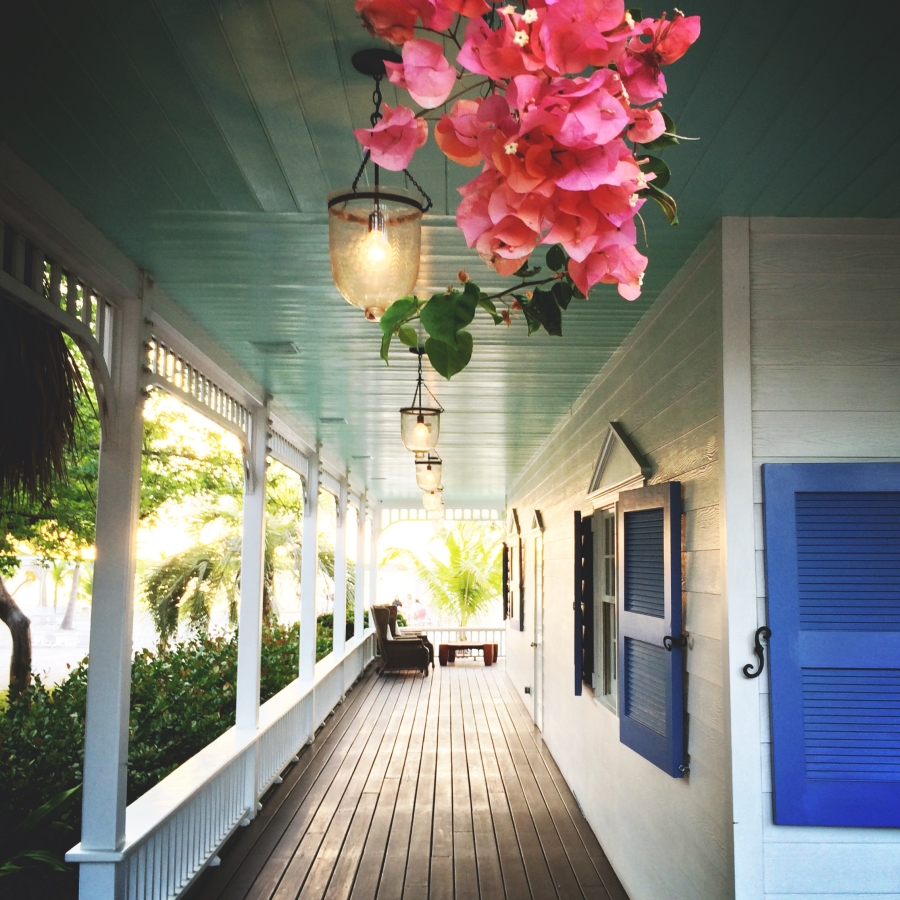 I love the architecture of buildings in the Keys. Like this porch where I could picture growing old while sipping lemonade every night as the sun set.