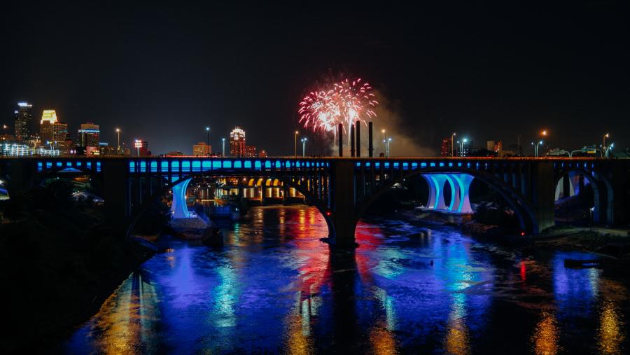 Aquatennial Fireworks over Minneapolis