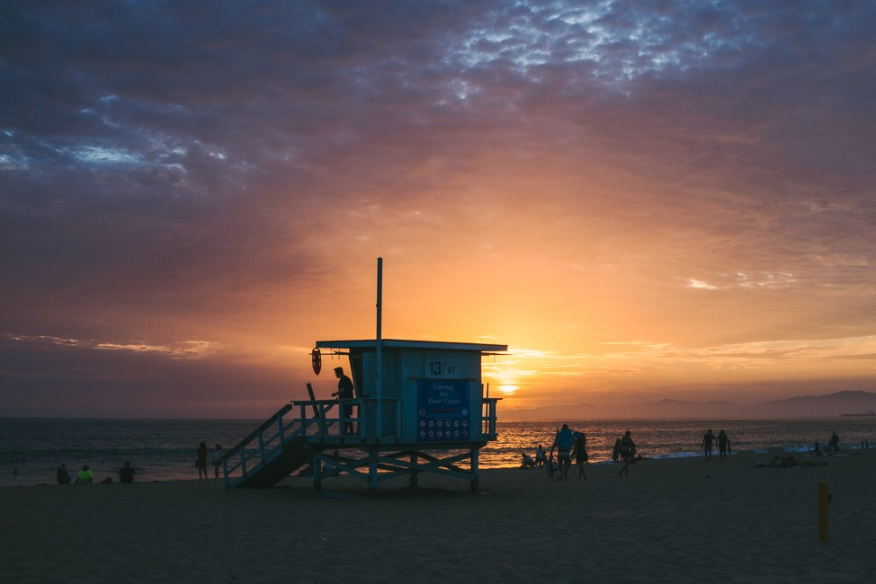 A Hopeful Sunset at Hermosa Beach