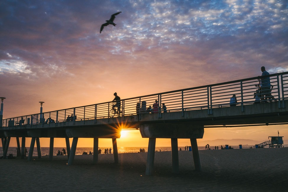 A Hopeful Sunset at Hermosa Beach thumbnail