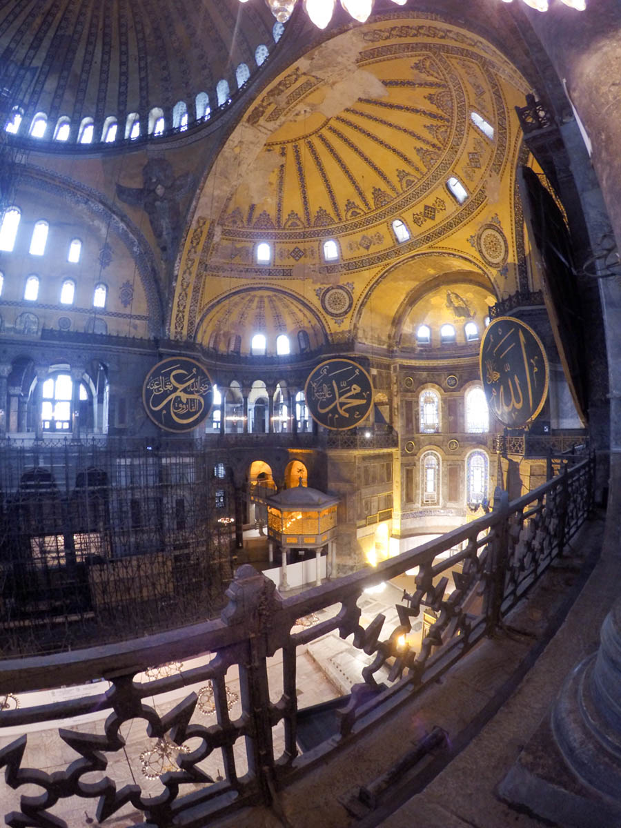 Inside Hagia Sophia in Istanbul by Kirsten Alana