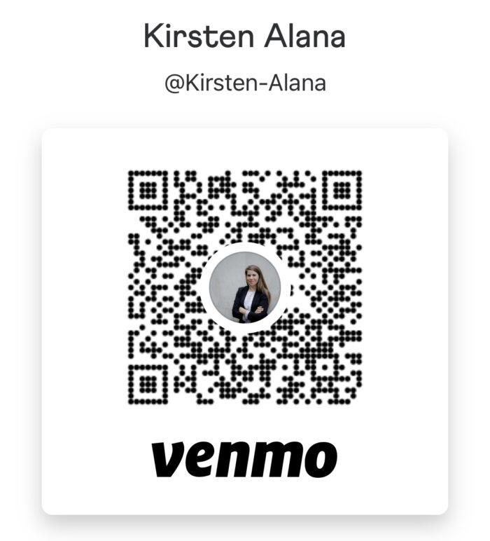 Venmo QR Code for Kirsten Alana