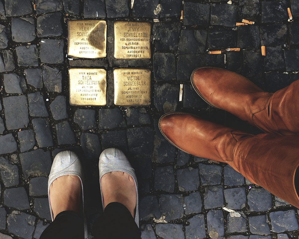 Holocaust Markers in Berlin by Kirsten Alana for advancement of social justice